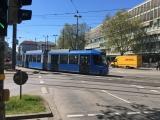 München blaues Tram