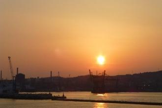 Elba - Autofähre .Sonnenuntergang 3