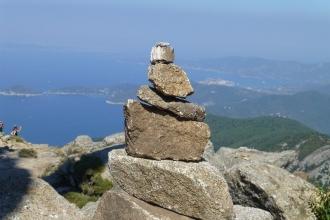 Elba - Monte Capanne - Gipfelmännchen