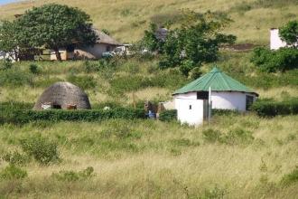 Swasiland-Rundhütte