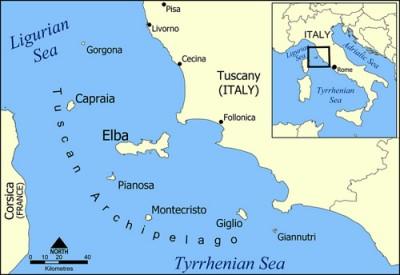 Uebersichtskarte Elba