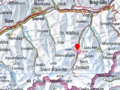 Karte Rundwanderung Randa