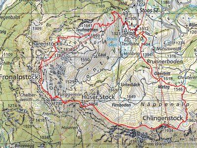 Karte der Rundwanderung Stoos Klingenstock Fronalpstock