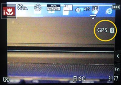 So zeigt die Kamera dass ein GPS Signal vorhanden ist