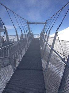 Höchstgelegene Fussgängerhängebrücke Europas