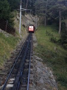 Dei steilste Zahnradbahn der Welt